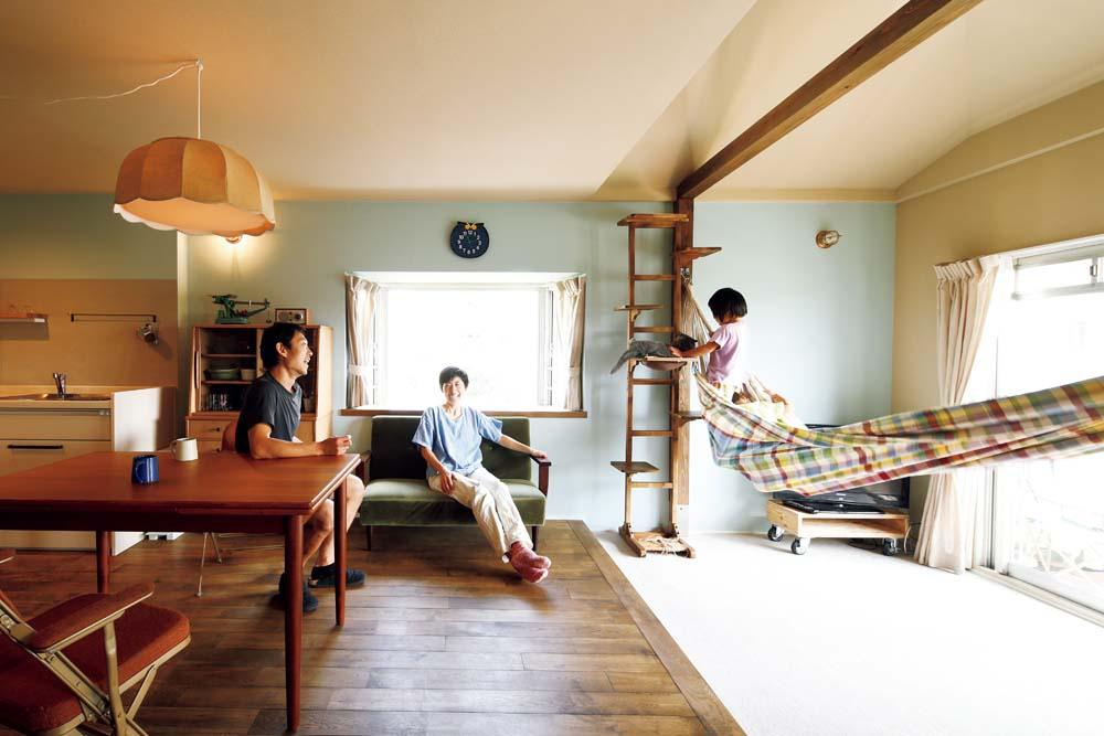 「Renomama (リノまま) 」のリノベーション事例「壁と床の色に変化をつけて、メリハリある空間を楽しむ」