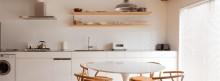 キッチン、玄関、I型、ダイニングキッチン、飾り棚、マンション、都心、エコデコ