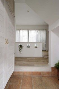 玄関、エントランスホール、ニッチ、植物、戸建、リノベーション