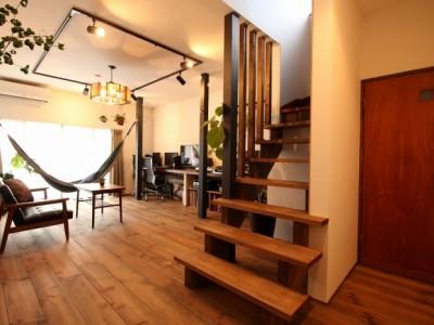 「G-FLAT株式会社」のリノベーション事例「リノベーションで、理想だったカフェ風の住まいを実現!」