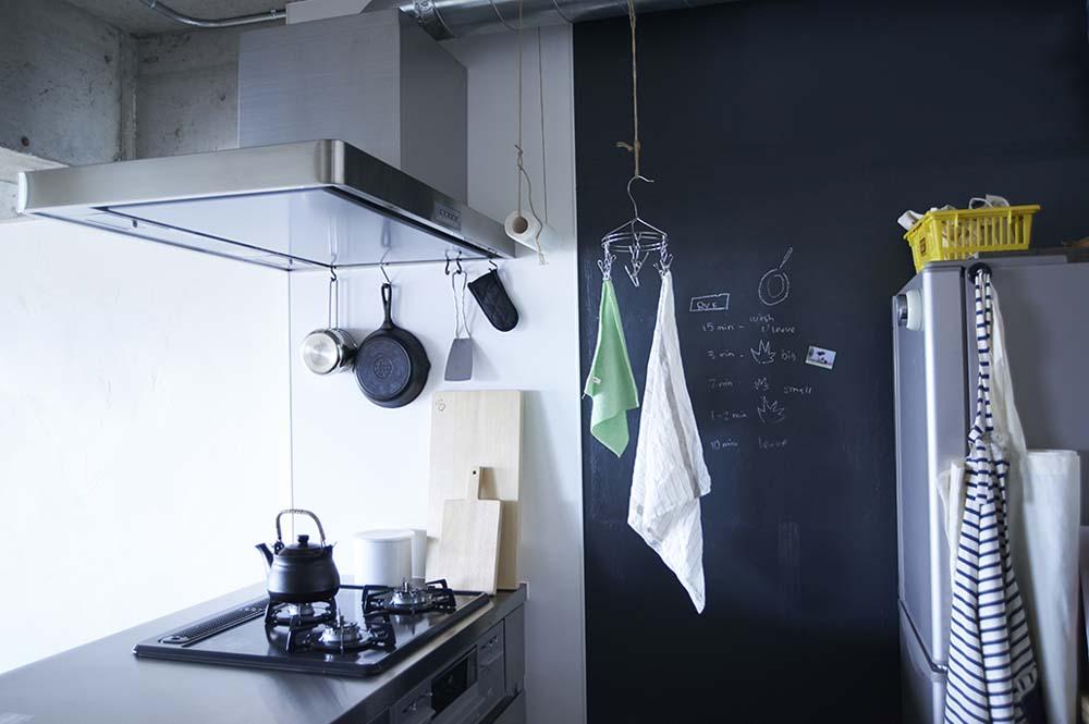 キッチン、黒板、塗装、ポーターズペイント