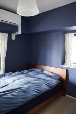 シック、モダン、クール、リノベーション、ベッドルーム、寝室
