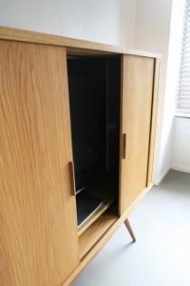 テレビボード、テレビキャビネット、北欧、ウォルナット材、オリジナル家具、ファイル