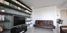 収納棚、飾り棚、オープンシェルフ、リノベーション、リビング、壁面収納、アクセントウォール