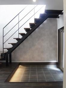 玄関、階段、手すり、戸建、リノベーション、ロクサ