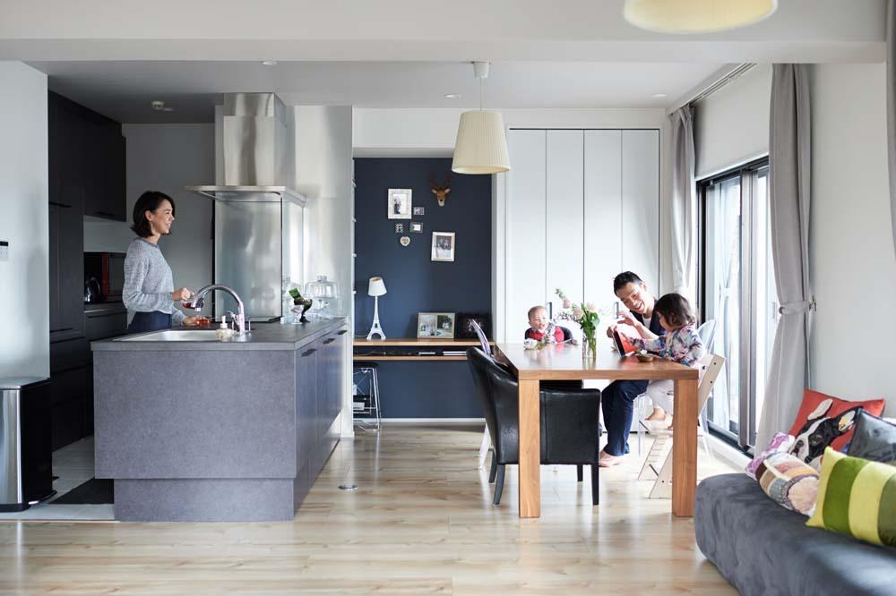 """「インテリックス空間設計」のリノベーション事例「築18年、将来の住み替えも視野に入れた""""中古購入+リノベーション""""」"""