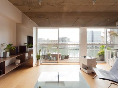 「EcoDeco」のマンションリノベーション事例「運河に浮かぶアートディレクターの家」