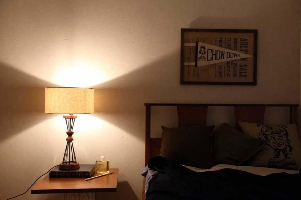 ベッドルーム、寝室、ヴィンテージ、レトロモダン、リノベーション、YANASE