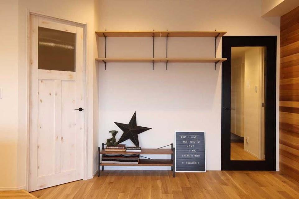 リビング、建具、壁面収納、飾り棚、リノベーション、YANASE