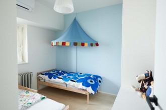 子供部屋、こども部屋、キッズルーム、IKEA、ベッドキャノピー、リノベーション