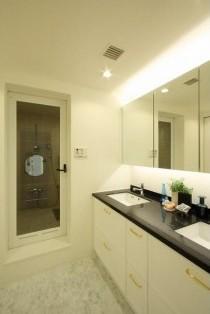 洗面所、サニタリールーム、水回り、リノベーション、バスルーム、大理石天板