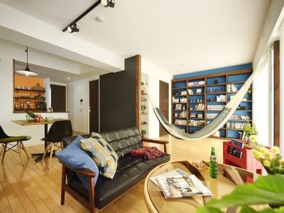 「LOHAS studio」のリノベーション事例「ハンモックで過ごすグラマラスな休日」