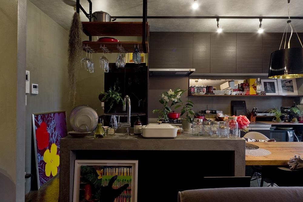 キッチン、カウンターキッチン、対面キッチン、マンションリノベーション、リノベーション、ハコリノベ、