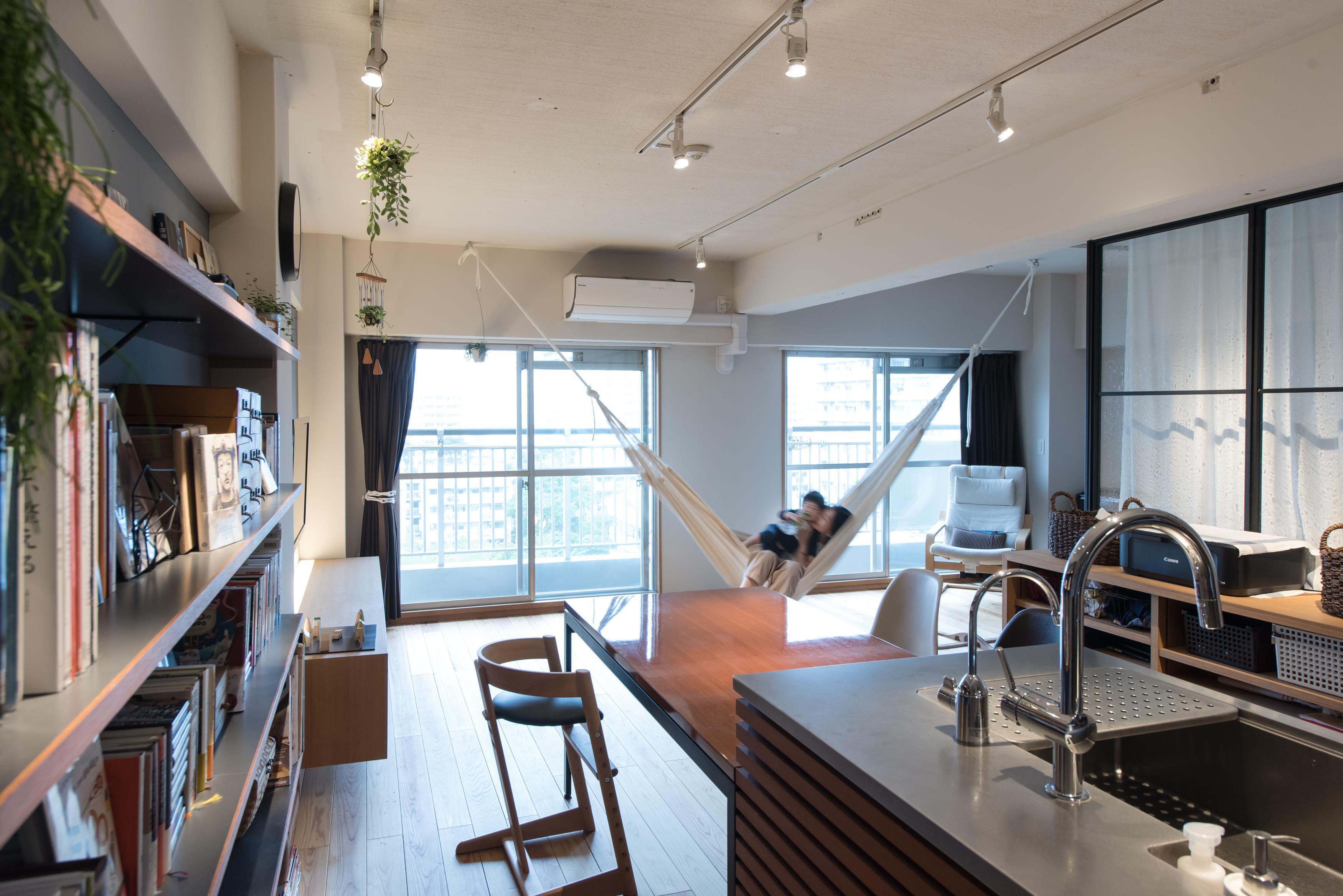 ハンモック、リノベーション、マンションリノベーション、ハンズデザイン一級建築士事務所、リビング