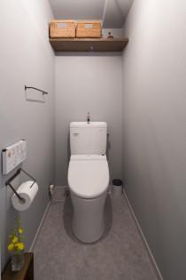 トイレ、アイアンハンガー、アイアンペーパーホルダー、リノベーション、アクセントクロス