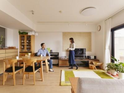「株式会社 夢工房」のマンションリノベーション事例「緑を添えて」