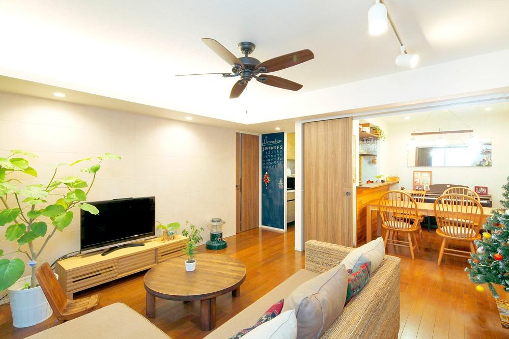 「One's Life ホーム」のリノベーション事例「アジアン家具を効果的にカフェテイストの家づくり」
