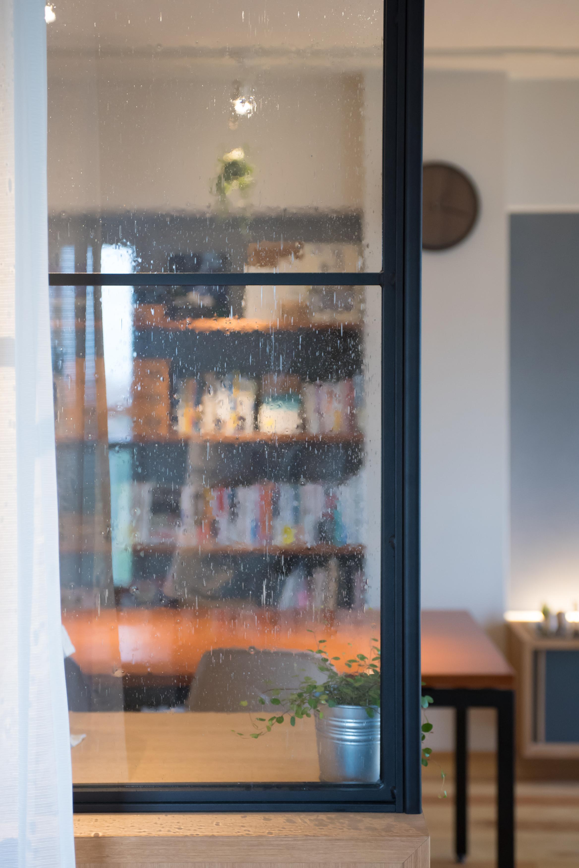 泡入りガラス、ガラス間仕切り、リノベーション、マンションリノベーション、ハンズデザイン一級建築士事務所