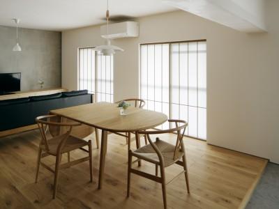 「青木律典 | 株式会社デザインライフ設計室」のリノベーション事例「「品朴の間」」