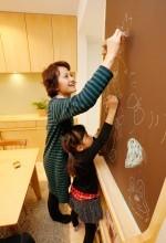 リビング収納、収納、作りつけ、壁面収納、天然木、無垢材、無垢フローリング、自然素材、水工房、リノベーション、シラス塗り壁、パイン材、黒板壁