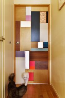 猫用入り口、猫用ドア、オーダー家具、パッチワーク、ドア、リノベーション、スタイル工房