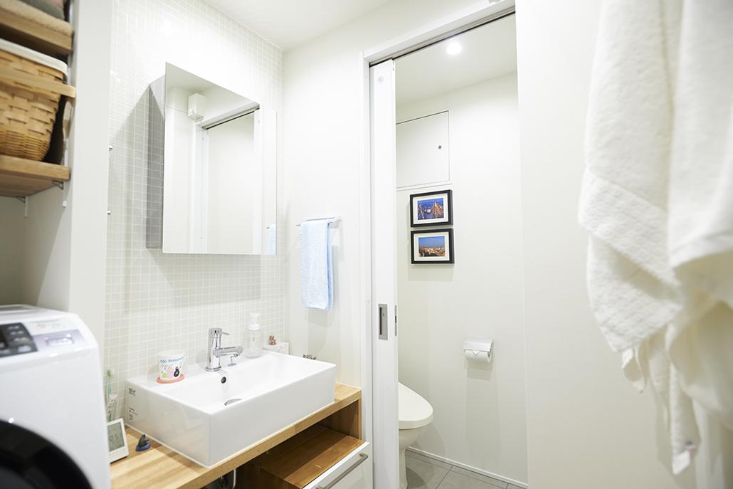 トイレ、リノベーション、Renomama、中古物件、ユーティリティー、洗面台、洗面室