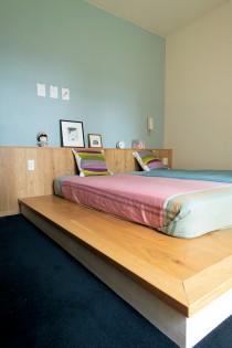 寝室、ベッドルーム、作り付け、イデー、リノベーション、リビタ