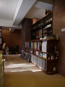 アメリカン、ヴィンテージ、本棚、造作、オリジナル家具、ブリックタイル