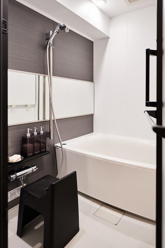 リノベーション、浴室、シンプル、機能的、中古マンション、バスルーム、ユニットバス、インテリックス空間設計