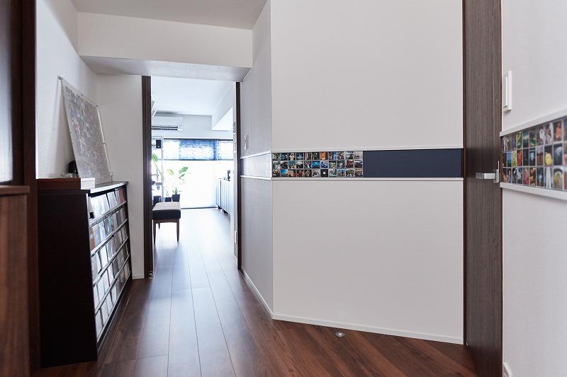リノベーション、玄関、廊下、中古マンション、壁面収納、収納、インテリックス空間設計