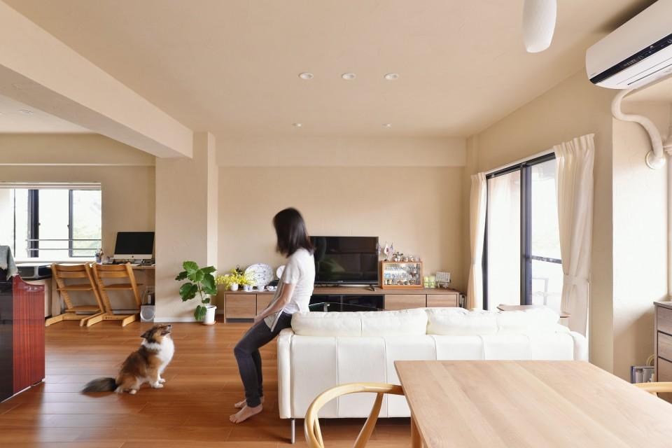リノベーション、夢工房、リビングルーム、開放感、フリースペース、スタディスペース