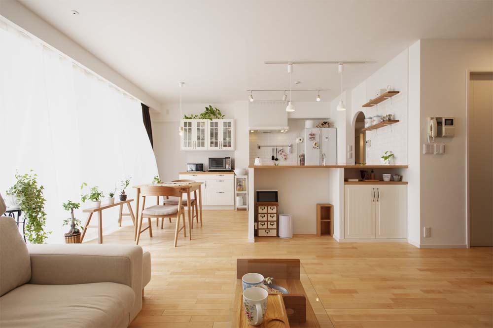 「スタイル工房」のリノベーション事例「既存と既製品を有効活用!木と白が映えるナチュラル&エコな家」