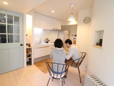 「湘南リフォーム」のマンションリノベーション事例「北欧×フレンチアンティーク風の明るいLDK」