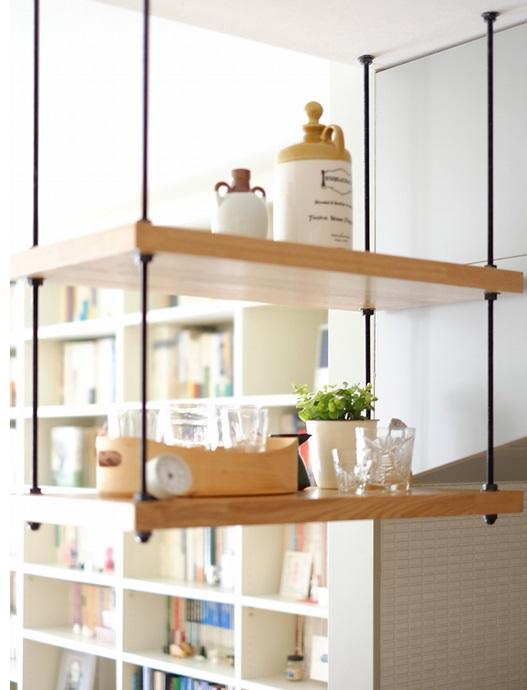キッチン、カウンターキッチン、空間社、リノベーション、一人暮らし、オープンシェルフ
