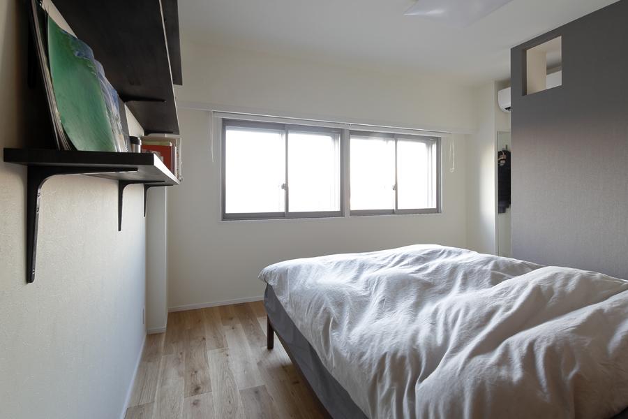 LOHAS studio、リノベーション、ベッドルーム、寝室、回遊動線、西海岸風、ウォークスルークローゼット