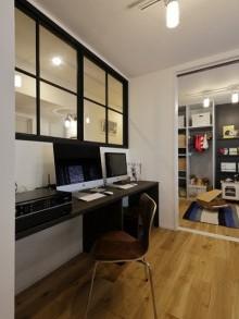 LOHAS studio、リノベーション、リビングルーム、回遊動線、西海岸風、室内窓、ワークスペース、子供部屋