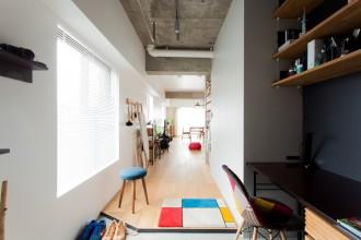書斎、玄関土間、書斎スペース、スタディスペース、リノベーション、エコデコ