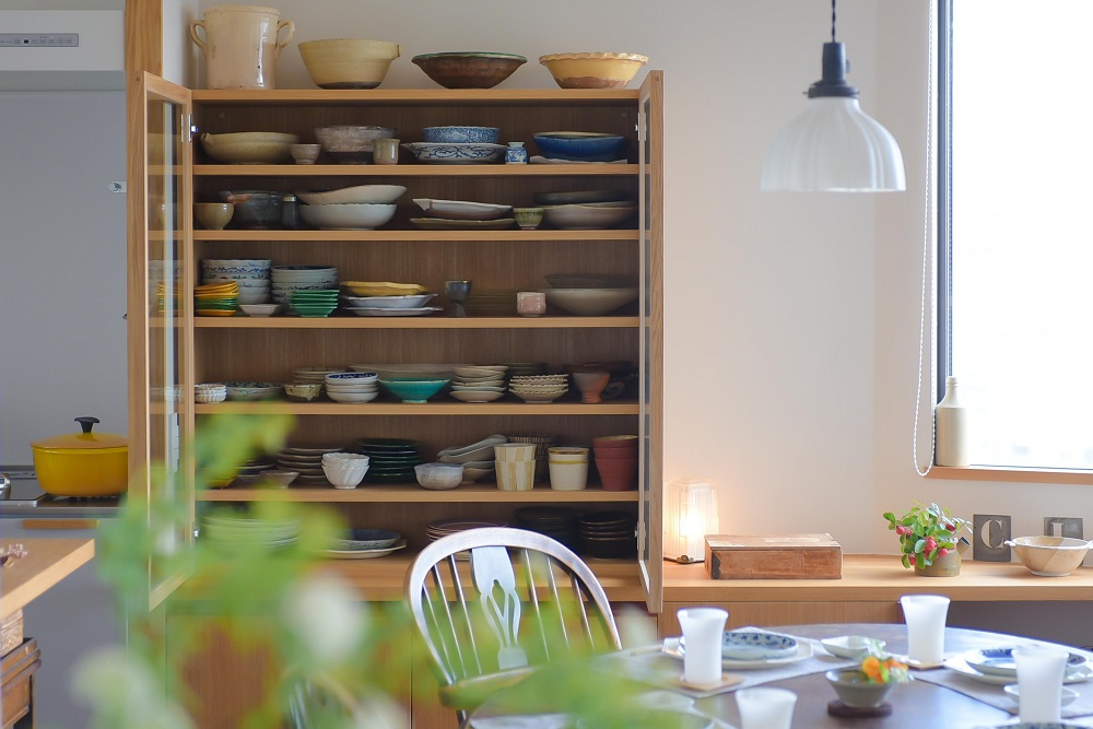 ダイニング、食器棚、カップボード、オリジナル家具、リノベーション、ハンズデザイン