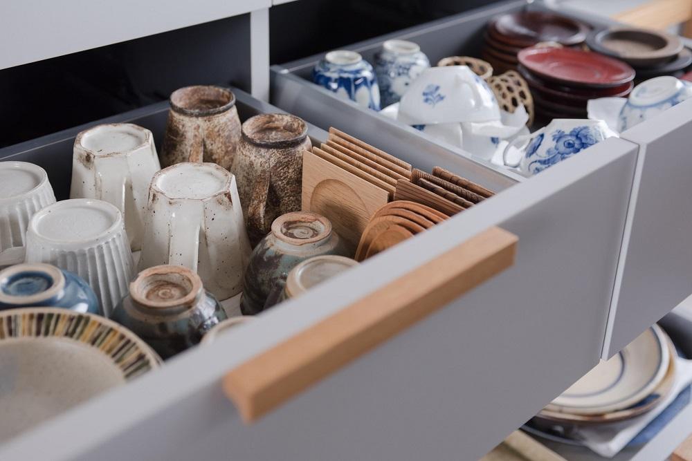 キッチン収納、和食器、造作キッチン、キッチン、リノベーション、ハンズデザイン