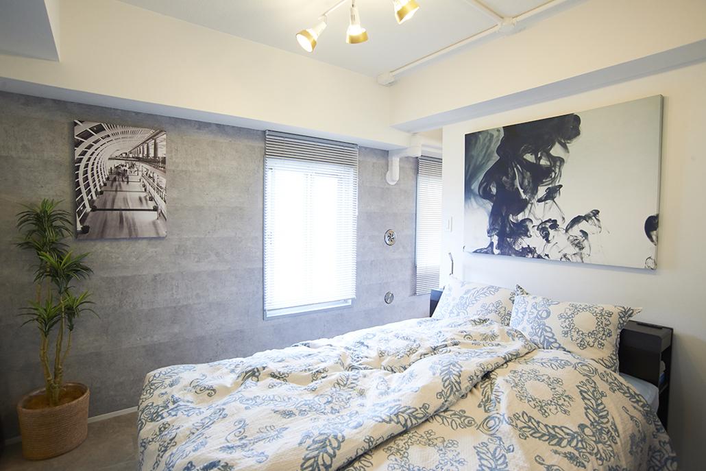 Renomama (リノまま)、リノベーション、寝室、回遊動線、シンプルモダン、ベッドルーム