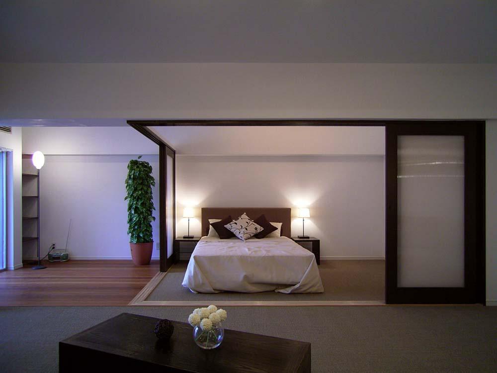 エキップ、リノベーション、ワンルーム、寝室、ベッドルーム、リビング