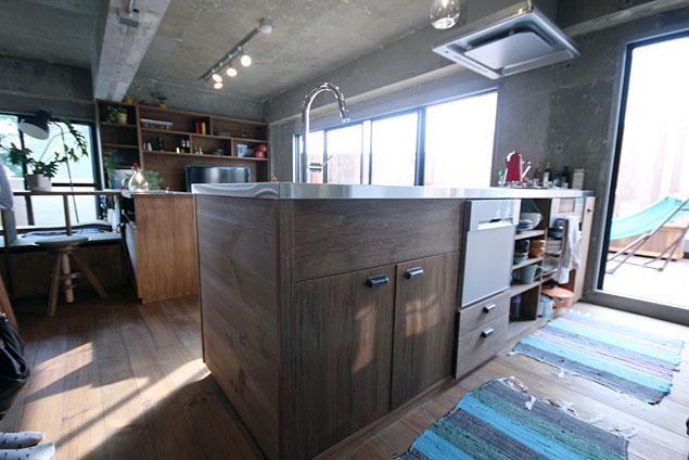 アズ建設、リノベーション、ワンルーム、秘密基地、造作家具、カウンターキッチン