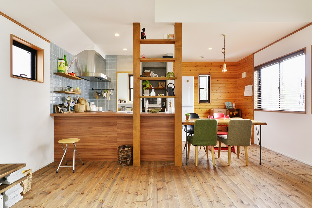 「スタイル工房」のリノベーション事例「オープンな間取りで部屋を広く!ユーズド感を持たせて好みの内装に」