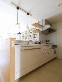 キッチン、カウンターキッチン、空間社、リノベーション、一人暮らし、