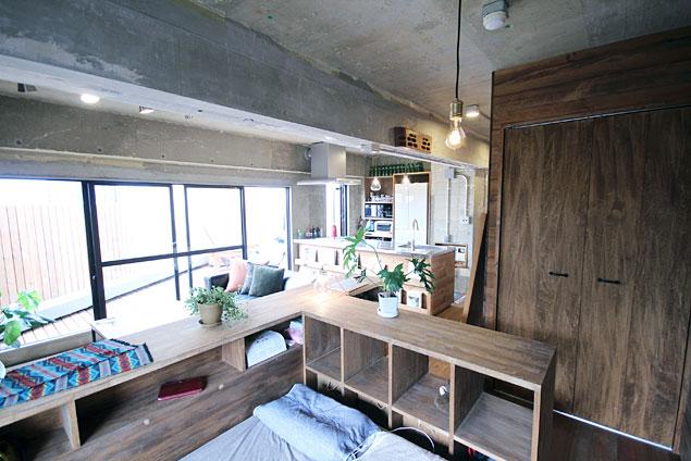 アズ建設、リノベーション、ワンルーム、秘密基地、造作家具、ベッドスペース