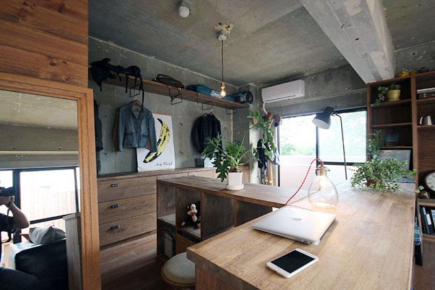 アズ建設、リノベーション、ワンルーム、秘密基地、造作家具、クローゼット、収納