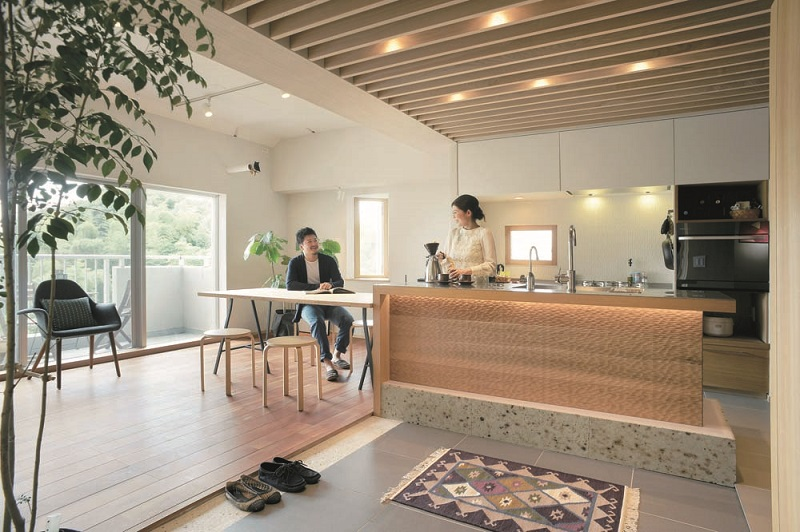 ハンズデザイン一級建築士事務所、リノベーション、仕切らない間取り、ワンルーム