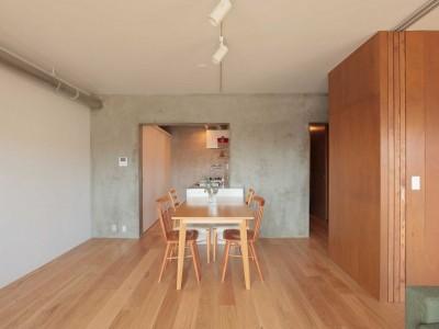 「Tsudou Design Studio(ツドウデザインスタジオ)」の団地リノベーション事例「家族と共に育つ家。フレキシブルに可変する間取りの団地リノベーション」