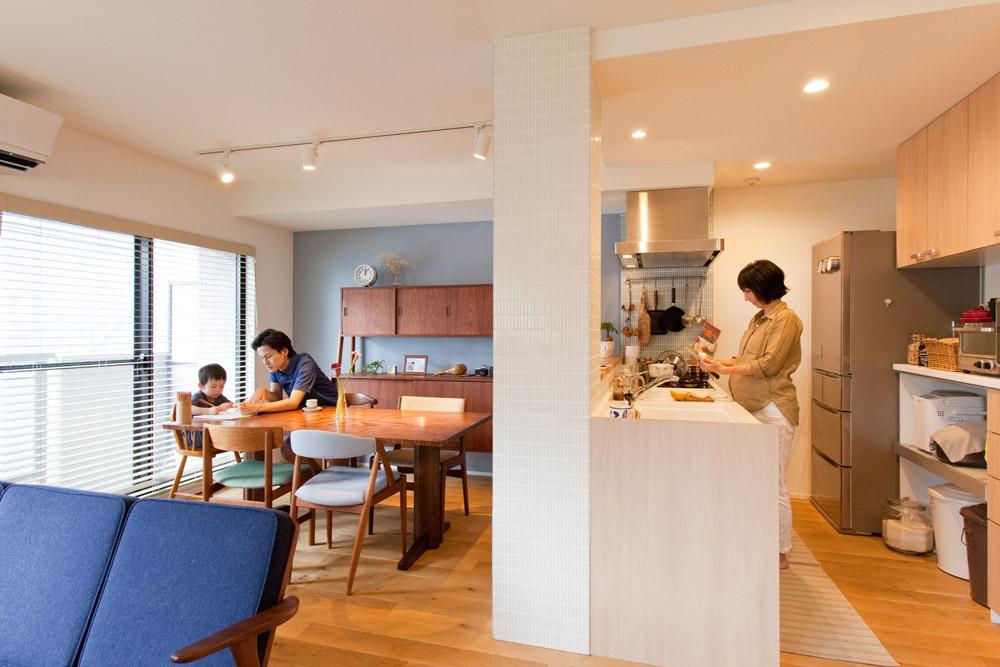 インテリックス空間設計、リノベーション、リビングルーム、ダイニング、キッチン、DIY、北欧家具、