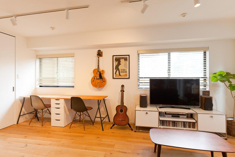 インテリックス空間設計、リノベーション、リビングルーム、ダイニング、DIY、北欧家具、